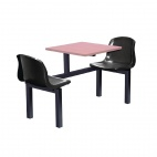 Two Seater Side Access Canteen Unit Beech and Black