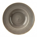 Churchill Stonecast Round Wide Rim Bowls Peppercorn Grey 277mm