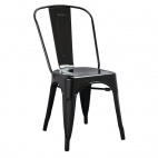 GL331 Bistro Side Chairs Steel Black (Pack of 4)