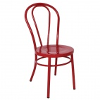 Steel Bentwood Style Red Side Chairs