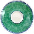 Churchill New Horizons Marble Border Espresso Saucers Green 115mm