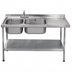 E20605RTPA 1500mm Stainless Steel Sink (Fully Assembled)