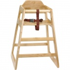 Natural Wood High Chair
