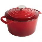 Round Red Casserole Dish Large