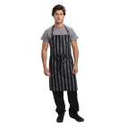 Urban Chesapeake Wide Stripe Bib Apron Black - B346