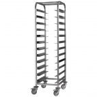 Stainless Steel Clearing Trolley 12 Shelves