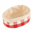 Bread Basket Oval Small Red