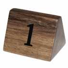 Wooden Table Number Signs Nos 1-10