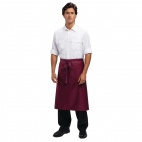 A417 Regular Bistro Apron - Burgundy