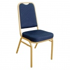 DL015 Squared Back Banqueting Chair Blue (Pack of 4)