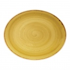 Churchill Stonecast Oval Coupe Plates Mustard Seed Yellow [delete]mm