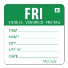 Green Dissolvable Friday Labels