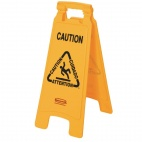 Multilingual A Frame Wet Floor Safety Sign