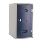 Plastic Single Door Locker Hasp and Staple Lock Blue 600mm