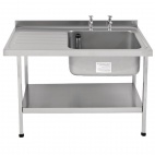E20612LTPA 1500mm Stainless Steel Sink (Fully Assembled)
