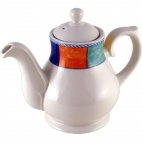 Churchill New Horizons Chequered Border Tea and Coffee Pots 852ml