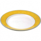 Churchill New Horizons Marble Border Mediterranean Dishes Yellow 280mm