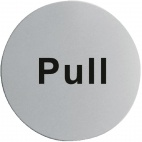 U064 Stainless Steel Door Sign - Pull