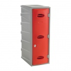 Plastic Single Door Locker Camlock Red 900mm