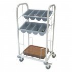 Two Tier Cutlery & Tray Dispense Trolley