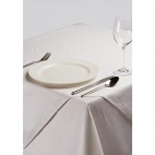 Plain White Square Polycotton Tablecloth