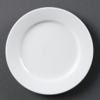 CB482 Whiteware Wide Rimmed Plate