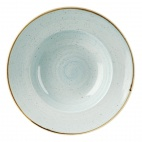 Churchill Stonecast Round Wide Rim Bowls Duck Egg Blue 280mm