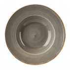 Churchill Stonecast Round Wide Rim Bowls Peppercorn Grey 240mm