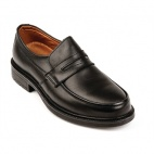B129-46 Black Slip-On Shoes