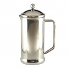 GL649 Cafe Stal Polished Finish Cafetiere 12 Cup
