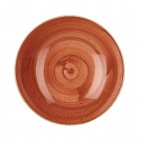 Churchill Stonecast Round Coupe Bowls Spiced Orange 200mm