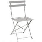 Grey Pavement Style Steel Chairs (Pack of 2)