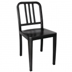 Steel Marine Side Chairs Black