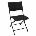 PE Wicker Folding Chairs (Pack of 2)