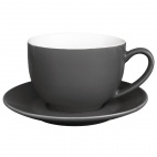 Caf̩ Cappuccino Cups Charcoal 340ml 12oz - GK078