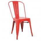 GL330 Bistro Side Chairs Steel Red (Pack of 4)