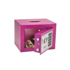 Pink Compact Office Safe
