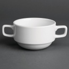 CG027 Classic White Stackable Soup Cup