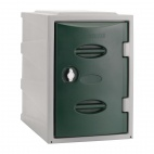 Plastic Single Door Locker Hasp and Staple Lock Green 450mm