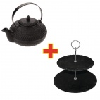 Contemporary Teapot & Cake Stand