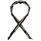 B068 Striped Butchers Neckerchief - Black