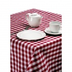CE473 Palmar Gingham Red & White Tablecloth