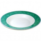 Churchill New Horizons Marble Border Pasta Plates Green 300mm