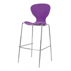 Stacking Purple Plastic High Stool (Pack of 4)