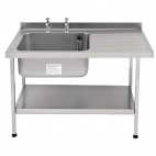 E20612RTPA 1500mm Stainless Steel Sink (Fully Assembled)