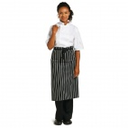 A938 Butchers Apron - Black and White Stripe