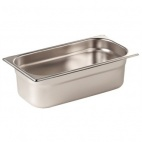 GN1/4 100 Stainless Steel 1/4 Gastronorm Pan 100mm