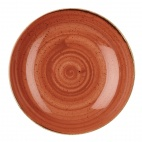 Churchill Stonecast Round Coupe Bowls Spiced Orange 315mm