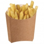 Disposable Kraft Chip Scoops Medium