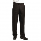 Mens Waiting Trousers Black Size 30In